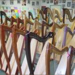 Harp Showroom at the Sylvia Woods Harp Center in California